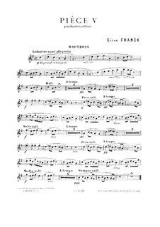 Piece No.5: For oboe and piano by César Franck