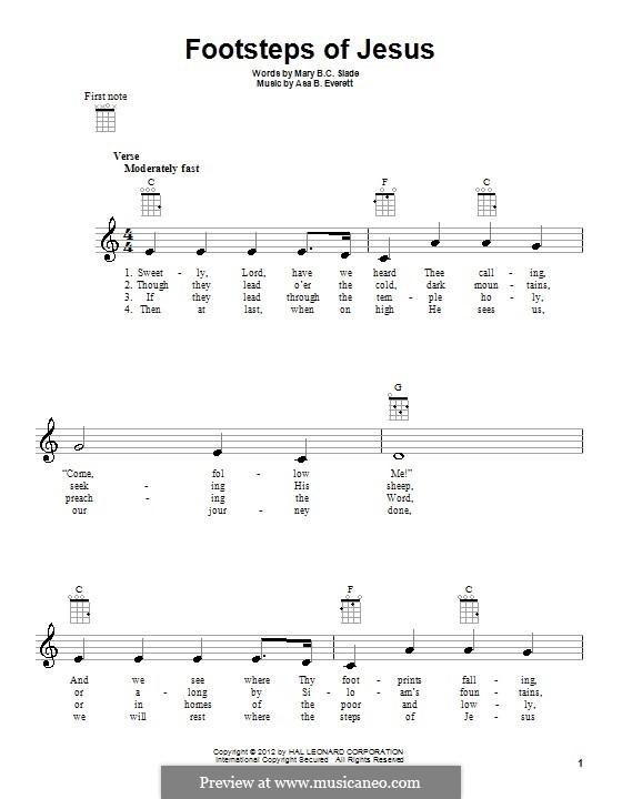 Footsteps of Jesus: For ukulele by Asa B. Everett