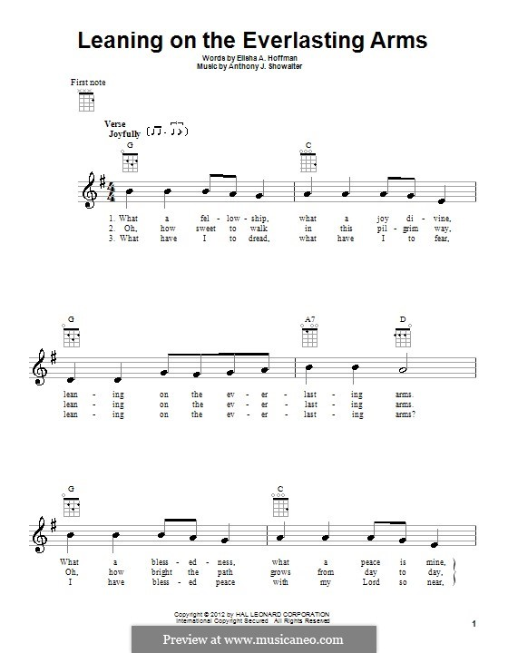 Leaning on the Everlasting Arms: For ukulele by Anthony J. Showalter