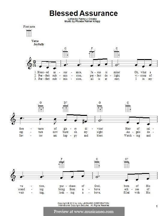 Blessed Assurance: For ukulele by Phoebe Palmer Knapp