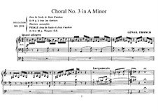 Three Chorales: Chorale No.3 in A Minor for organ, FWV 40 by César Franck