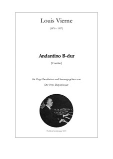Andantino in B-dur: Andantino in B-dur by Louis Vierne