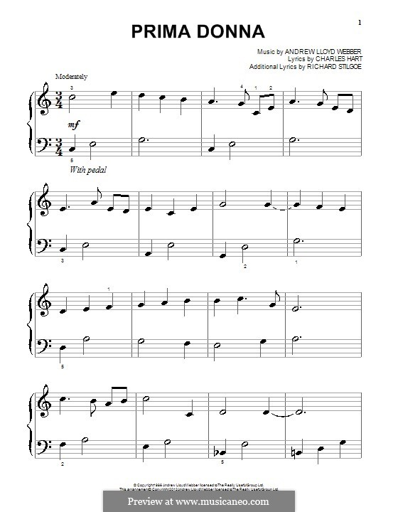 Prima Donna: For piano by Andrew Lloyd Webber