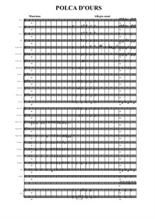 Polca d'Ours for Wind Ensemble: For wind ensemble (full score, parts) by folklore