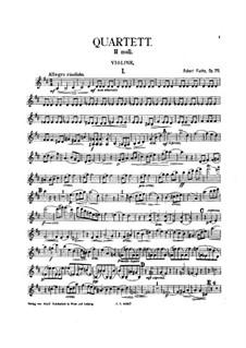 Piano Quartet No.2 in B Minor, Op.75: Strings Parts by Robert Fuchs