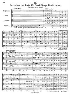 Introitus pro feria VI. Quat. Temp. Pentecostes, K.282: In te Domine speravi by Johann Fux