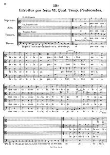 Introitus pro feria VI. Quat. Temp. Pentecostes, K.282: Repleatur os meum laude tua by Johann Fux