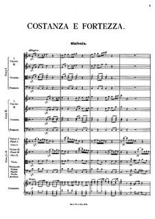 Costanza e fortezza, K.315: Act I, scenes I-VI by Johann Fux