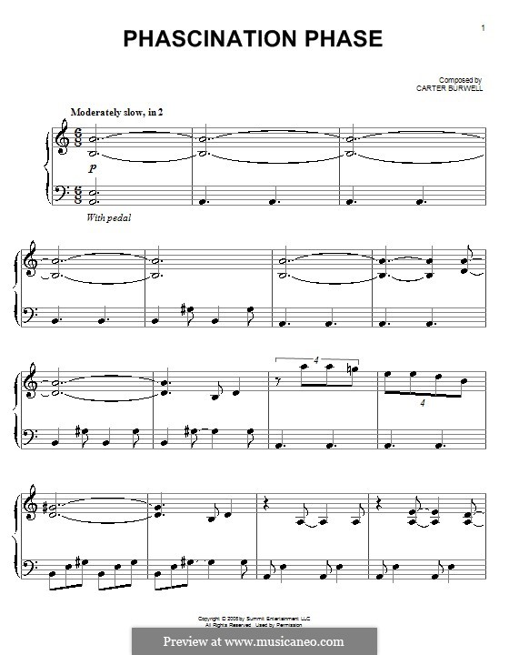 Phascination Phase: For piano by Carter Burwell