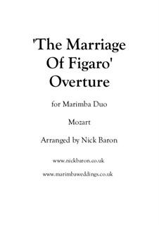 Overture: For marimba duo by Wolfgang Amadeus Mozart