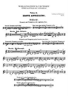 Wellington's Victory, or the Battle of Vitoria, Op.91: Violin II part by Ludwig van Beethoven