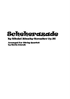 Complete set: For string quartet – score by Nikolai Rimsky-Korsakov