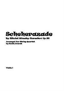 Scheherazade, Op.35: For string quartet – parts by Nikolai Rimsky-Korsakov