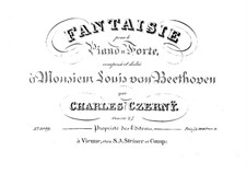 Fantasia in B Flat Major, Op.27: For a single performer by Carl Czerny