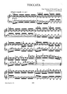 Toccata in C Major, Op.92: For piano by Carl Czerny