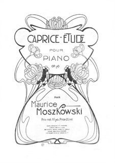 Two Pieces for Piano, Op.70: Caprice-Étude by Moritz Moszkowski