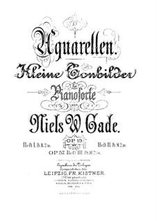 Aquarelles, Op.19: No.1-5 by Niels Wilhelm Gade
