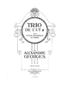 Piano Trio in A Major: Full score by Alexandre Georges