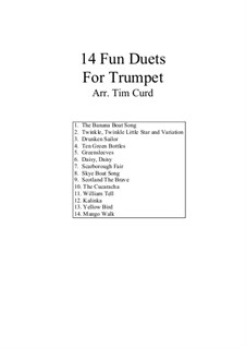 14 Fun Duets: For two trumpets by folklore