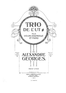 Piano Trio in A Major: Violin part by Alexandre Georges