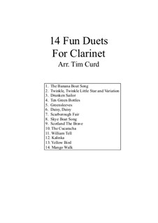 14 Fun Duets: For two clarinets by folklore