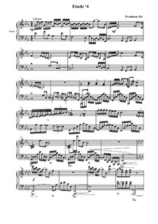 Etude No.4, Op.3: Etude No.4 by Dzmitry Pradanets