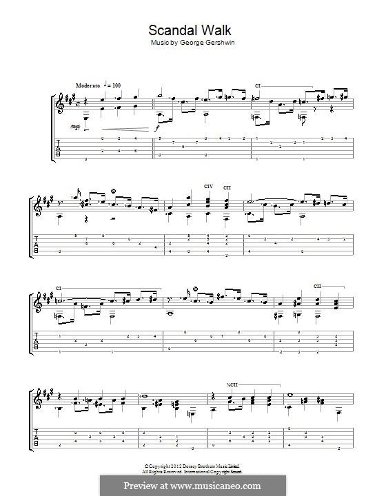 Scandal walk: For guitar (Jerry Willard) by George Gershwin
