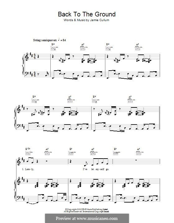 Back To the Ground: For voice and piano (or guitar) by Jamie Cullum