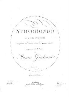 Nuovo Rondo (New Rondo), Op.5: For guitar by Mauro Giuliani