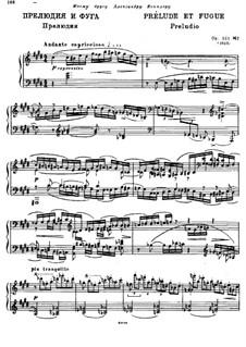 Four Preludes and Fugues, Op.101: Prelude and Fugue No.2 by Alexander Glazunov