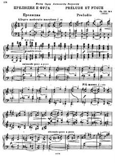 Four Preludes and Fugues, Op.101: Prelude and Fugue No.4 by Alexander Glazunov