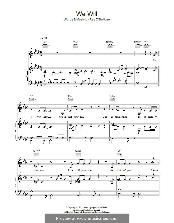 We Will (Rumer): For voice and piano (or guitar) by Ray O'Sullivan