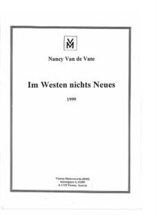 Im Westen nichts Neues: Partitur by Nancy Van de Vate