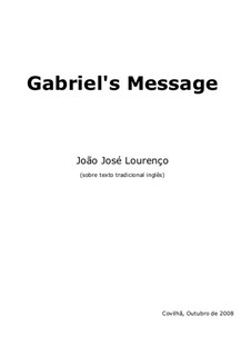 Gabriel's Message, JJL 16: Gabriel's Message by João José Lourenço