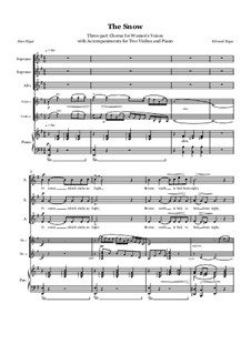 The Snow, Op.26 No.1: For female choir and piano by Edward Elgar
