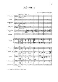 Réverie, Op.24: Full score by Alexander Glazunov