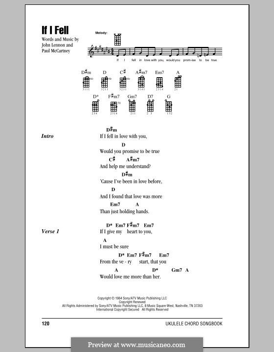 If I Fell (The Beatles): For ukulele by John Lennon, Paul McCartney