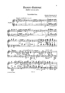 Ruses d'Amour, Op.61: For piano by Alexander Glazunov