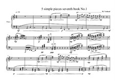 5 Simple pieces for piano: Seventh book No.1, MVWV 709 by Maurice Verheul