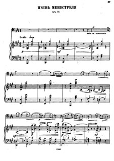 Minstrel's Song for Cello and Piano, Op.71: Score by Alexander Glazunov