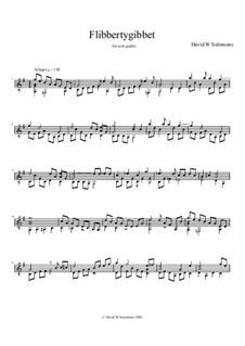 Flibbertygibbet: For solo guitar by David W Solomons