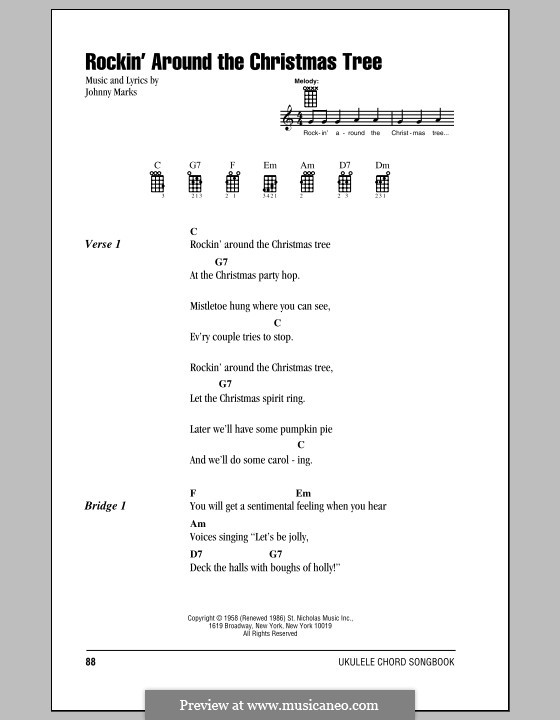 Guitar : guitar chords rockin around the christmas tree Guitar ...