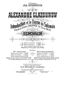 Introduction and Dance of Salome, Op.90: Introduction and Dance of Salome by Alexander Glazunov