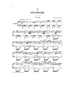 The Kremlin, Op.30: For piano four hands – parts by Alexander Glazunov