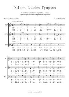 Dulces Laudes Tympano (Medieval Motet): Dulces Laudes Tympano (Medieval Motet) by Unknown (works before 1850)