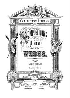 Six Fughettas, Op.1: For piano by Carl Maria von Weber