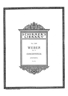Concert Piece for Piano and Orchestra, J.282 Op.79: Version for two pianos by Carl Maria von Weber