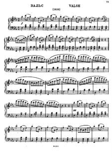 Waltz for Piano in E Flat Major: Waltz for Piano in E Flat Major by Mikhail Glinka