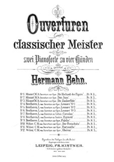Overture: For piano four hands by Carl Maria von Weber