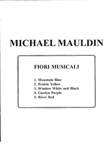 Fiori Musicali: Five Preludes for Piano: Fiori Musicali: Five Preludes for Piano by Michael Mauldin